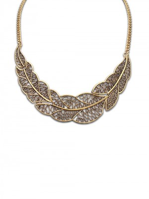 Occident Foreign Orders Simple Hollow Tree Leaf Hot Sale Halskjede
