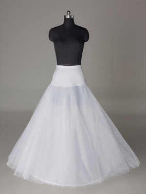 Tyll Nettingting A-Linje 2 Tier Floor Length Slip Style/Wedding Underskjørt