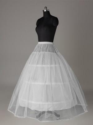 Tyll Nettingting Ball-Gown 2 Tier Floor Length Slip Style/Wedding Underskjørt