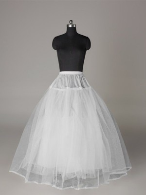 Tyll Nettingting Ball-Gown 3 Tier Floor Length Slip Style/Wedding Underskjørt