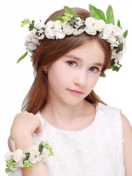 Beautiful Plastic With Flower Flower Headbands(Including Wrist Corsage)