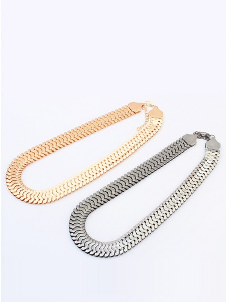 Occident Personality Metallic thick chains Kort Hot Sale Halskjede