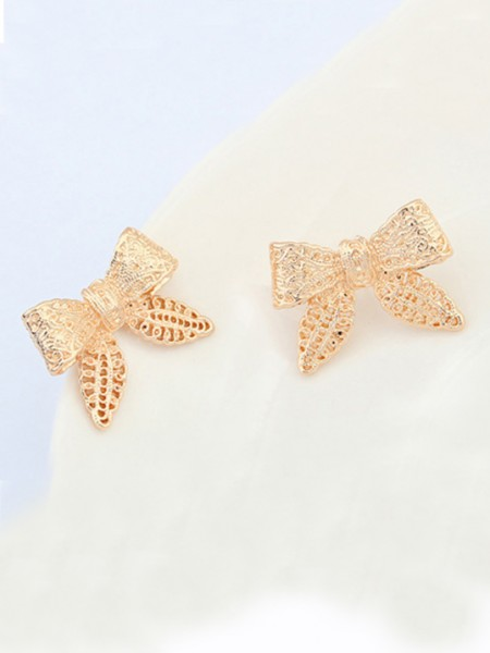 Occident Cartoon Sløyfe Metallic Stud Hot Sale øredobber