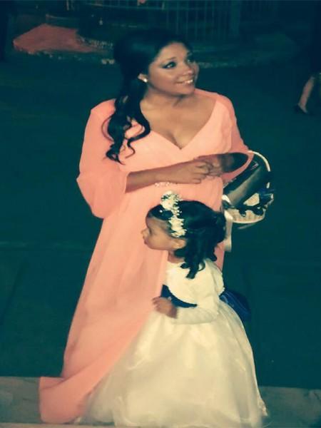 A-Linje/Prinsesse V-hals Perlebesydd Ermeløs Gulvlengde Chiffong Kjoler til Brudens Mor