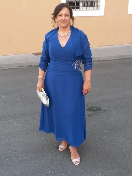 A-Linje/Prinsesse V-hals Ermeløs Sateng Chiffong Perlebesydd Ankel-lengde Kjoler til Brudens Mor