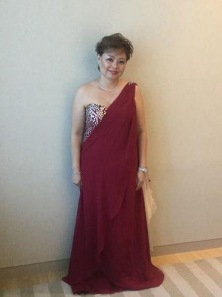 A-Linje/Prinsesse En Skuldret Ermeløs Chiffong Perlebesydd Kjoler til Brudens Mor