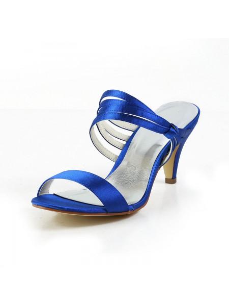 Women's Sateng Cone Heel Peep Toe Pumps Sandalerer Sko