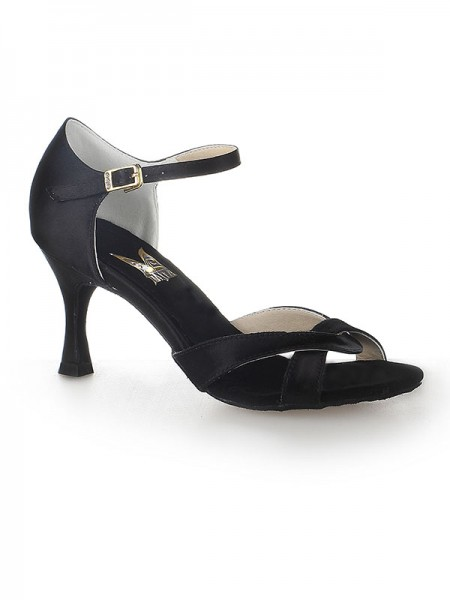 Women's Sateng Peep Toe Stiletto Heel Buckle Dansesko