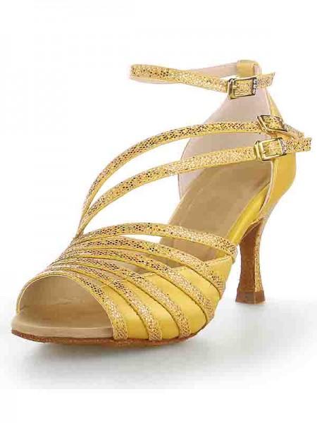 Women's Peep Toe Stiletto Heel Sateng Sparkling Glitter Dansesko